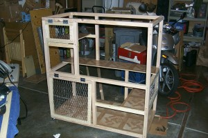 Our feral cat cage